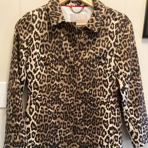 Banana Republic Animal Print Top Coat